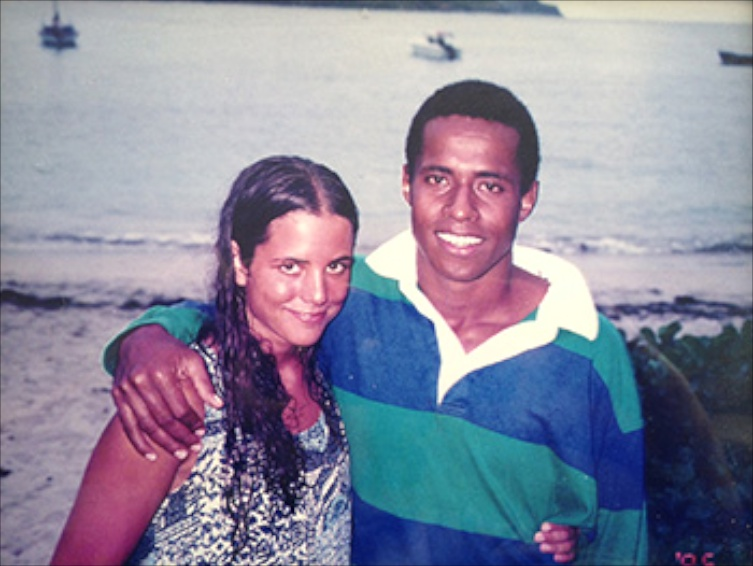Janet and Semi Lotawa in Fiji, circa 1995. (Photo courtesy Janet Lotawa)