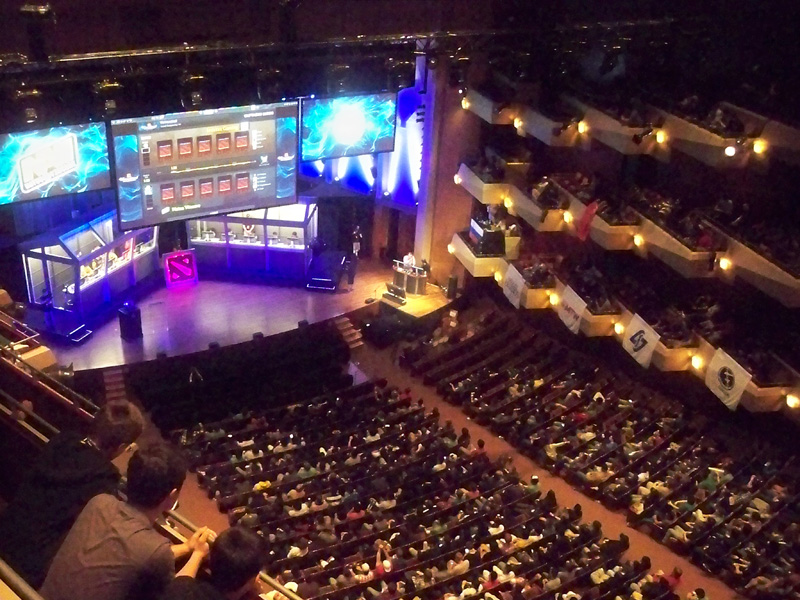 The International 2012 at Benaroya Hall. By DarthBotto, via Wikimedia Commons.