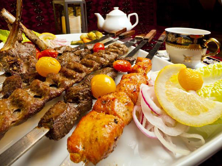 Ariana Authentic Afghan Cuisine's many offerings of beef, lamb and chicken kabob. (Courtesy of Ariana Authentic Afghan Cuisine)