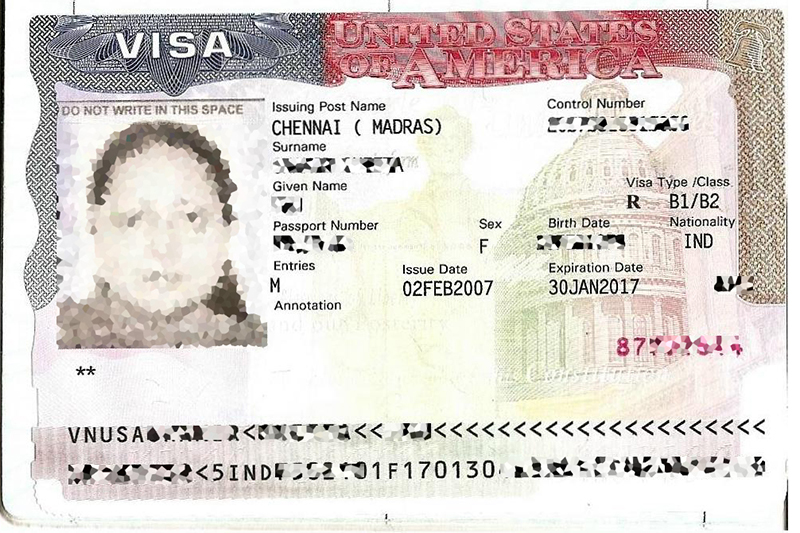 U.S. Visa issued in India. (Photo by Muzi via Wikimedia Commons)