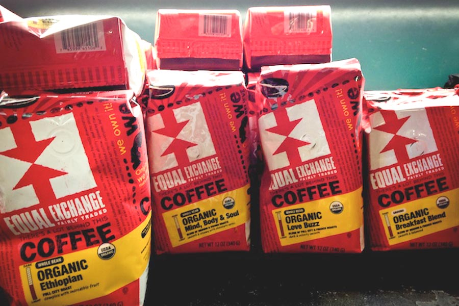 Founded in 1986, Equal Exchange it is the oldest and largest Fair Trade coffee company in the U.S. The company's highest paid employee may not make more than four times what the lowest paid employee does. (Photo by Anna Goren)