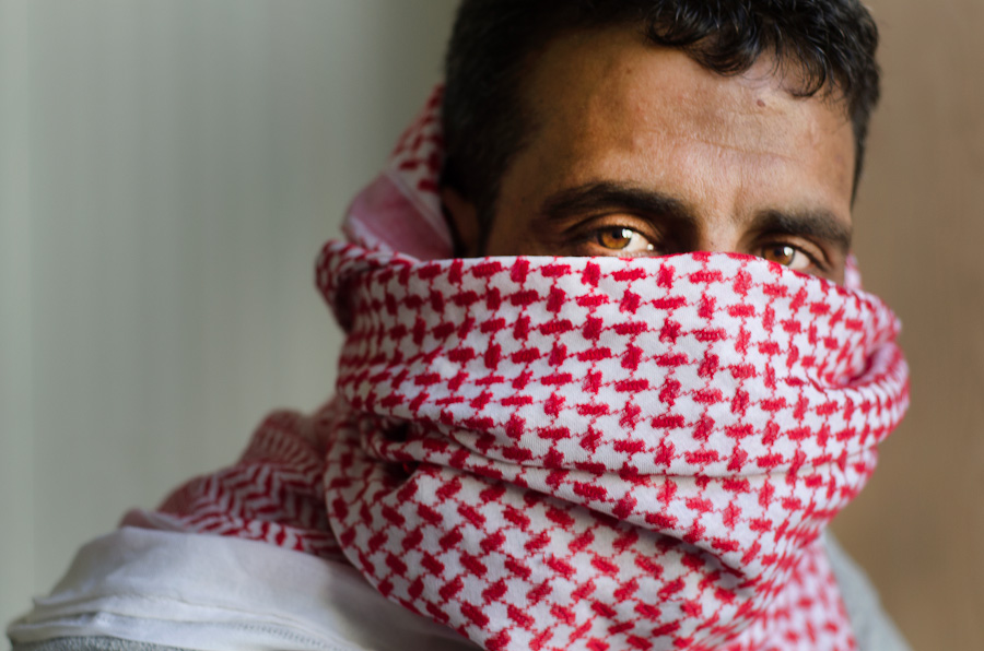 """Hamdan,"" a 36-year-old former FSA fighter who now lives in a Jordanian refugee camp, plans to return to Syria to rejoin rebel ranks this month. (Photo by Alisa Reznick)"