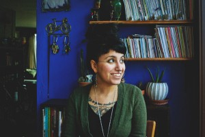 Nyky Gomez, founder of Brown Recluse Zine Distro. (Photo by Atoosa Moinzadeh)