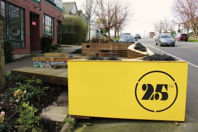 Last year, Cortona Café raised over fifteen-thousand dollars to build a parklet outside of the job. The seating area utilizes potentially underutilized space.