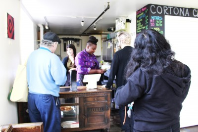 Lines can sometimes be long at the café, but you won't have to wait for long. Service is fast, and the coffee is killer.