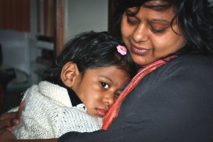 Rebecca Peacock in Seattle with her daughter Trisha. Both mother and daughter were adopted from India. (Courtesy Photo)