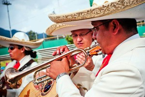 A mariachi band performs at a Cinco de Mayo party (Photo from Flickr via U.S. Army Korea)