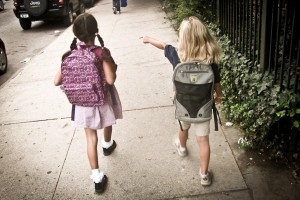 The first day of school is uncertain enough without racializing kids. (Photo from Flickr by Eden, Janine and Jim)