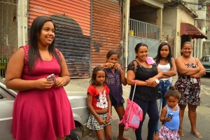 """Milena, age 16, says lowering the adult trial age will just add to unfair application of criminal law in Brazil: """"A rich kid can steal and murder but pay bail and be out of jail easy, while a kid from the favela will be stuck in prison."""" (Photo by Katherine Jinyi Li)"""