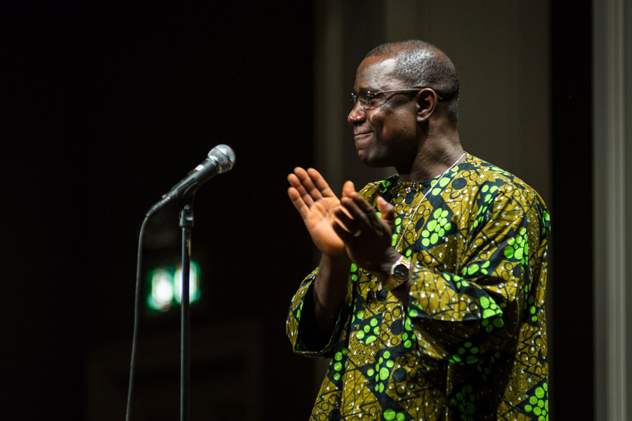 Pastor George Everett, at an Ebola Relief concert in 2014 (Photo courtesy Tino Tran)
