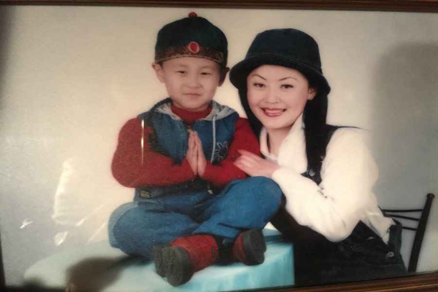 My mom and I in China before we moved to Boise, Idaho. (Courtesy photo)