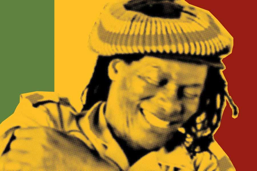"Seattle resident and reggae legend Winston ""Flames"" Jarrett, immortalized in art for the forthcoming film ""True Born African."" (Courtesy Nicholas John Nakis)"