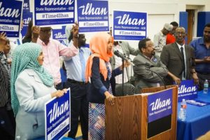 Ilhan Omar is poised to become the first Somali American elected to a state legislature. (Photo from Ilhanomar.com)