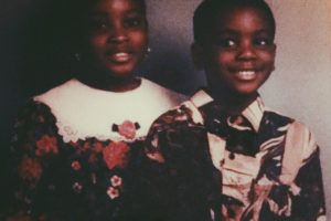 The author and his sister in the 90's. (Courtesy photo)