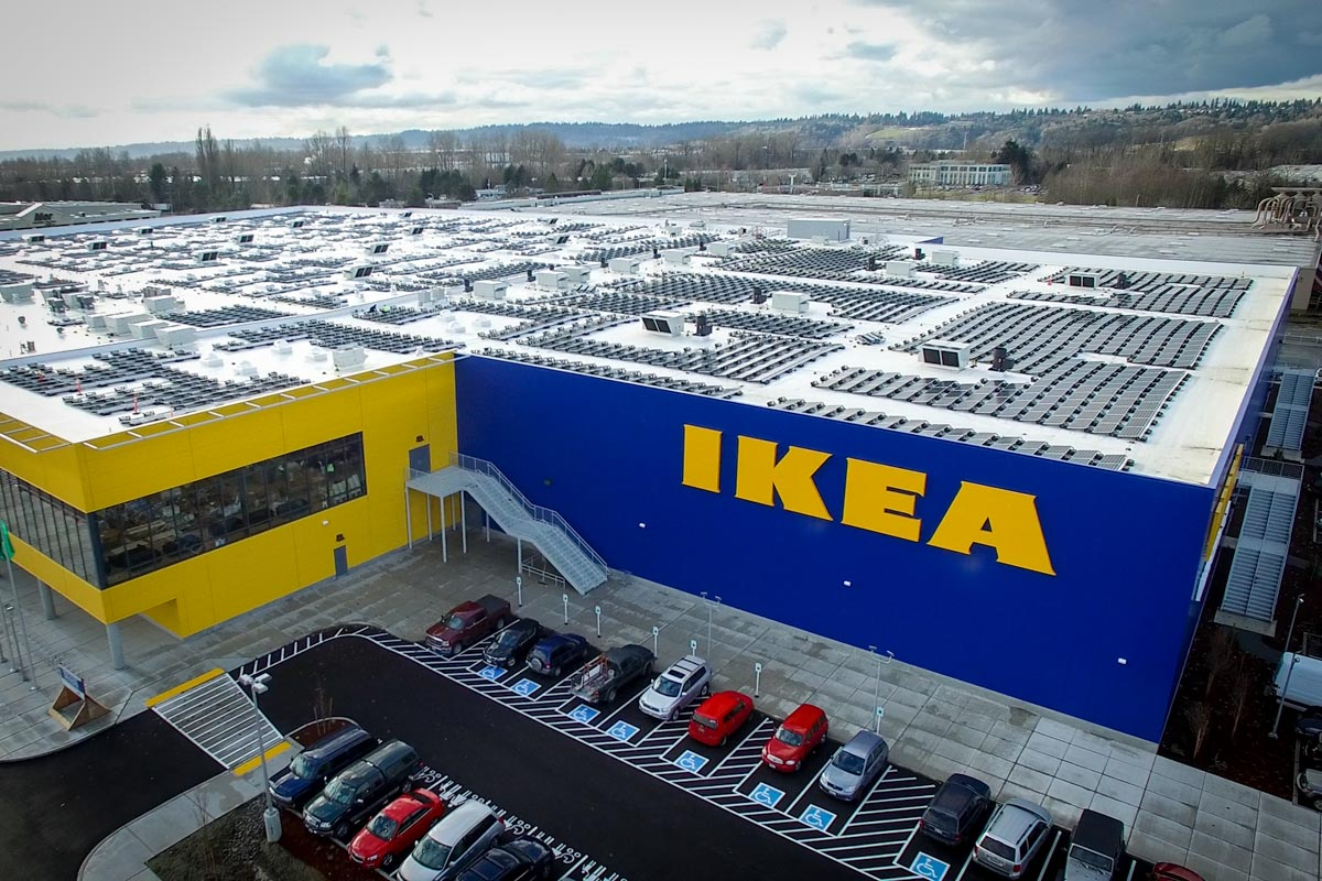 ikea completes washington 39 s largest rooftop solar installation. Black Bedroom Furniture Sets. Home Design Ideas