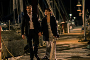 "When Jamie Dornan and Dakota Johnson take a moonlight walk on a Seattle dock in ""50 Shades Darker."" Most of the film was actually shot in Vancouver, where film incentives make it much cheaper. (Photo by Doane Gregory/Universal Pictures)"