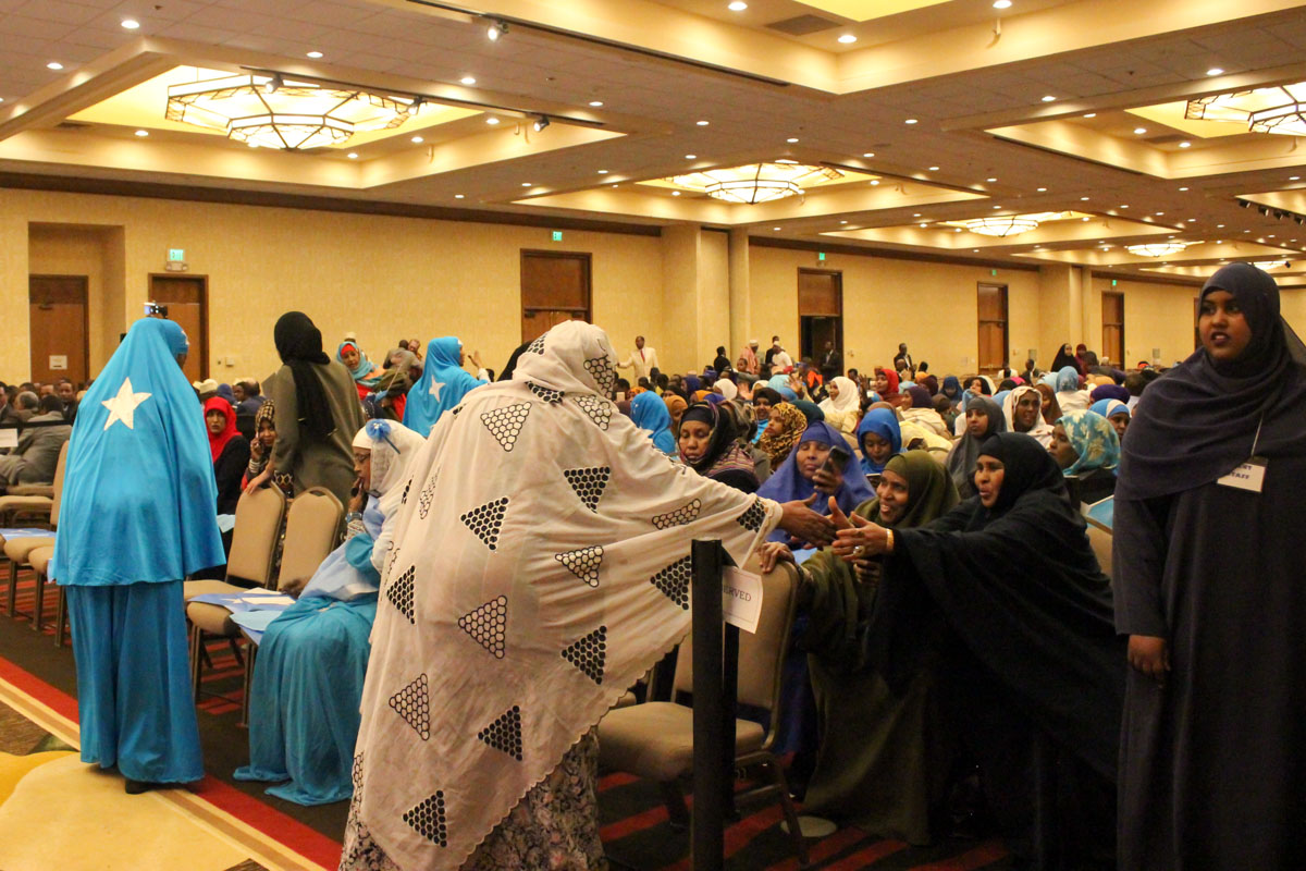 Somali Americans gathered in SeaTac in early March for an emergency fundraiser to provide relief for the ongoing drought Somalia (Photo by Damme Getachew)