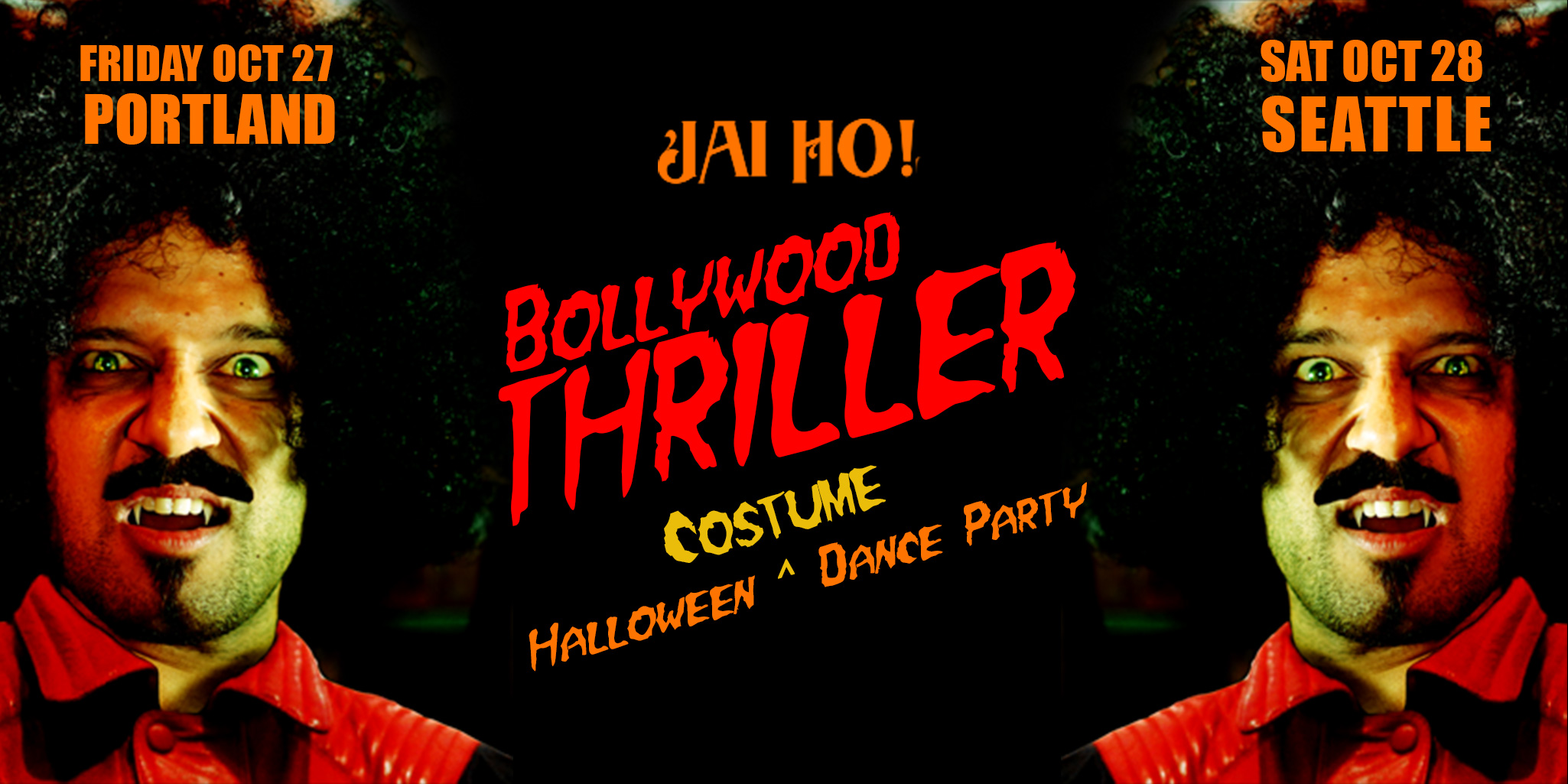 Halloween Costume Dance Party in Seattle THE BOLLYWOOD THRILLER