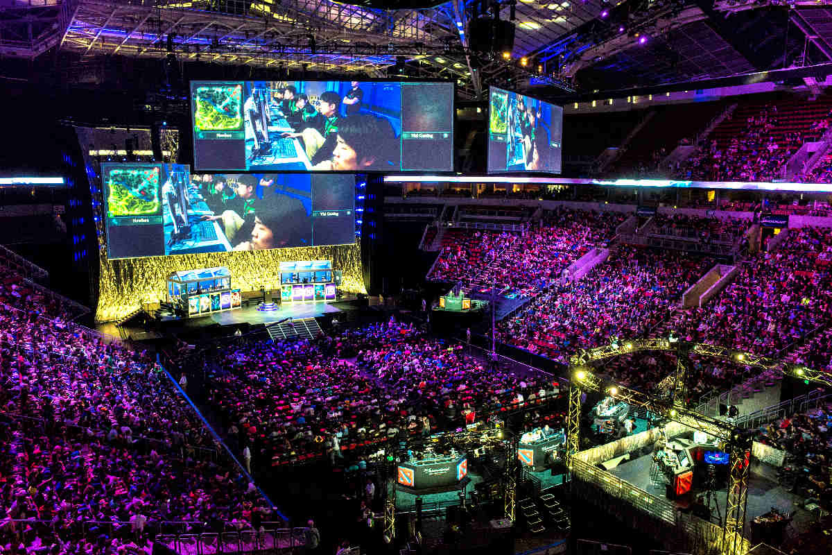 """The International 2014, the fourth annual eSports """"Dota 2"""" championship tournament hosted by Valve Corporation at KeyArena. (Photo by Dota 2 The International via Flickr)"""